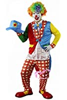 Clown costume full set [for adult clothes + gloves + hat + mask + color afro clown costume cosplay] (japan import)