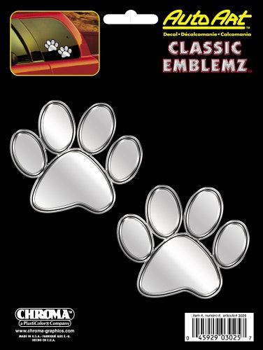 Chroma 3025 Paw Prints Classic Emblemz Decal ()