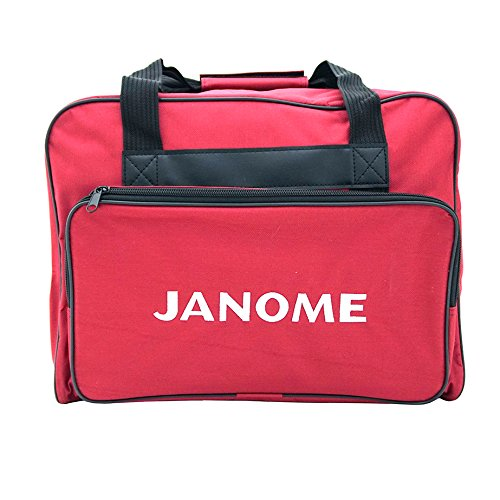 Janome Sewing Machine Tote Bag in Red with Janome Logo ()