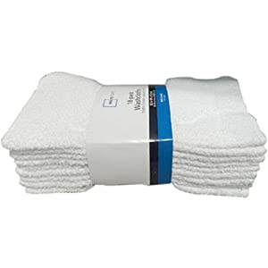 White Cotton Washcloth Pack - 18 Count