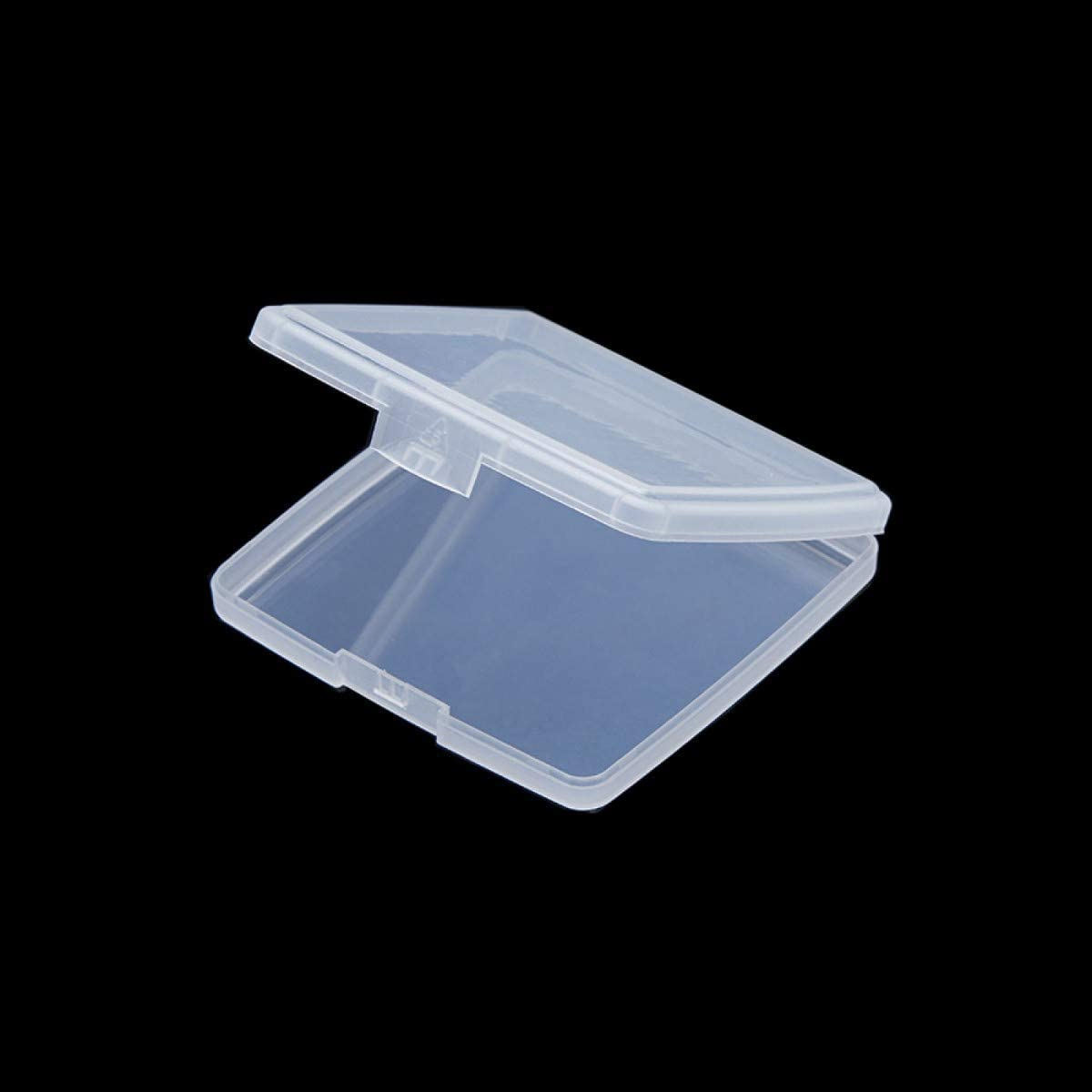 10x Mini Clear Plastic Small Storage Box Jewelry Beads Case Container Holder