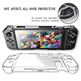 Nintendo Switch Case, AMDISI Nintendo Switch Crystal Hard Back Clear Cover And Tempered Glass Screen Protector, Full-body Protective Set for Nintendo Switch