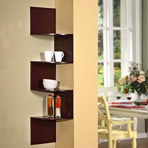Amazon.com: 4D Concepts Hanging Corner Storage, Cherry: Home & Kitchen