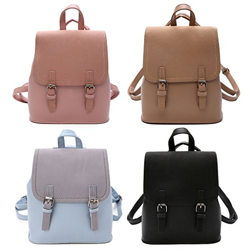 Khaki Lady Tote Shoulder Bag Pink Backpack Jagenie Fashion Purse Women's Travel Rucksack Schoolbags XwOYqt74