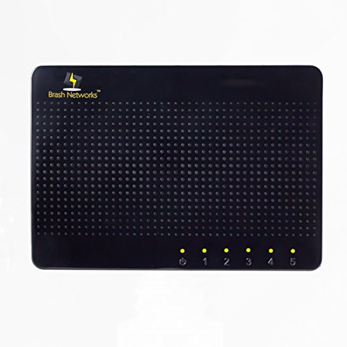 Brash Networks 5-Port 100/1000 Mbps Full Duplex Desktop Ethernet Gigabit Switch BN105