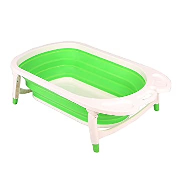 Amazon.com : Aojia Baby Folding Bath, (Green),QFY1576Green : Baby