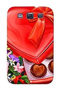Crazinesswith Series Skin Case Cover Ikey Case For Galaxy S3(heart Chocolates And Flowers)