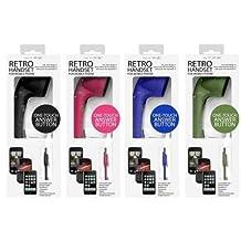 Hype HY705BK Retro Handset for Mobile Phone, Black