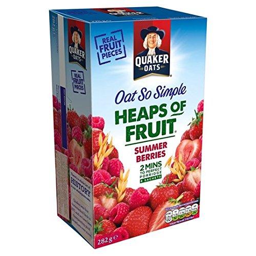 Avena Quaker tan simple Bayas del verano Gachas de 8 x 35,3 g: Amazon.es: Alimentación y bebidas