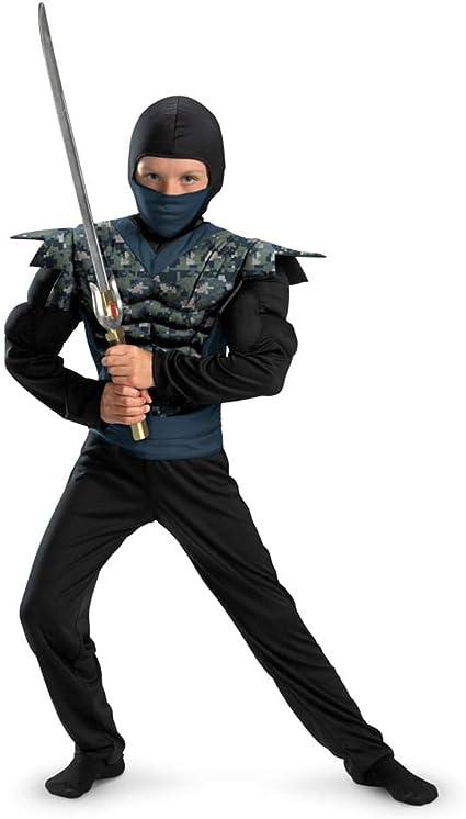 Shadow Ninjas Night Fury Night Camo Ninja Classic Muscle Boys Costume, 10-12
