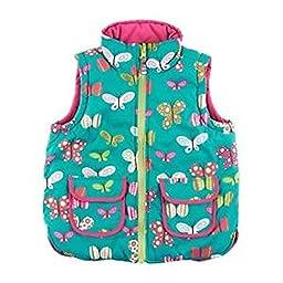 Hatley Girls Reversible Vest Ditsy Butterflies Size 2T
