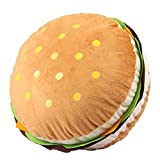 SUNONE11 Ultra vivid Plush Hamburger Throw Pillow Snack Food Stuffed Toy Sofa Couch Back Cushion Office Chair Car Seat Home Ornaments Christmas Gift