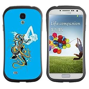 LASTONE PHONE CASE / Suave Silicona Caso Carcasa de Caucho Funda para Samsung Galaxy S4 I9500 / Abstract Cloud Art