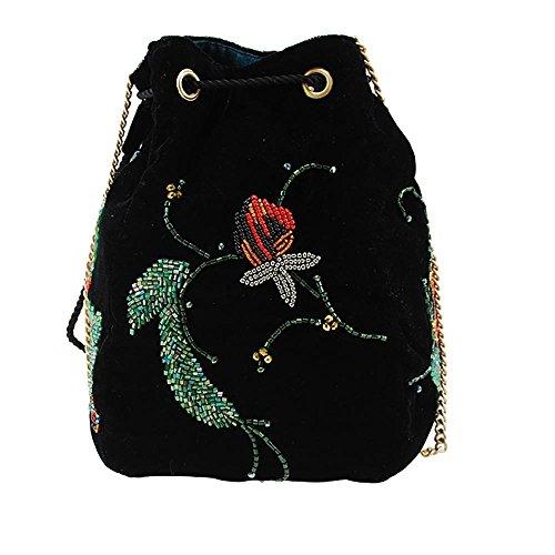 Handbag Snake Embellished FRANCES Velvet Charmer MARY Pouch Drawstring S0xagtW