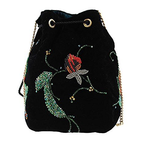 MARY Drawstring Charmer Snake Embellished Velvet FRANCES Pouch Handbag wwOFqZfnv