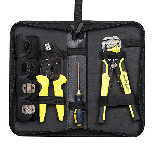 - Wire Stripper, GloEra Wire Crimper Crimping Stripping Tool Cable Cutter Self-Adjustable Ratcheting Cable Cutting Terminals Pliers Kit