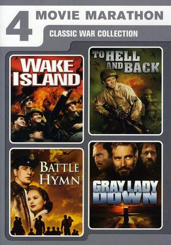 (4 Movie Marathon: Classic War Collection (Wake Island / To Hell and Back / Battle Hymn / Gray Lady Down) )