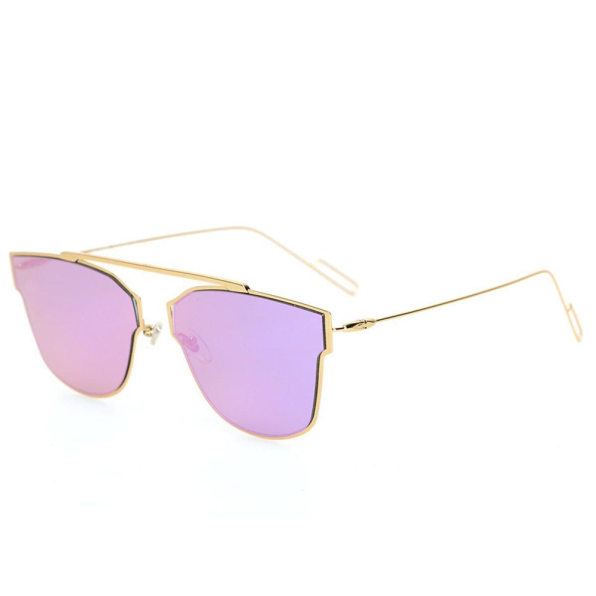 Wkaijc Spindeldürren Beine Die Frau Zum Mann Mode Persönlichkeit Bequem Quadrat Hell Sonnenbrillen Sonnenbrillen ,A