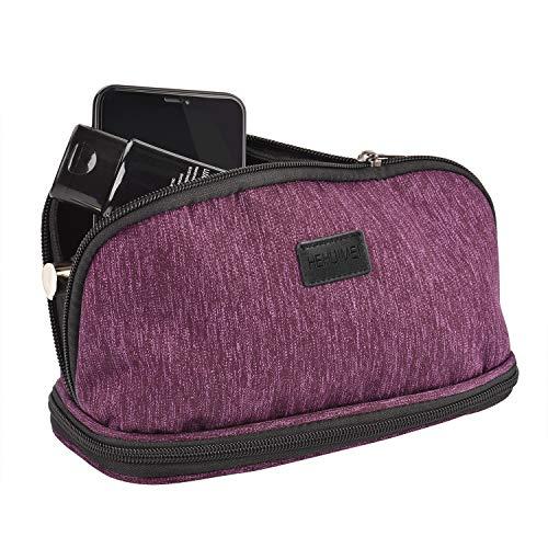 HEHUIMEI Portable Makeup Bag Cosmetic Bag Organizer Makeup Case for Women Makeup Pouch Travel Purse Handbag Makeup Travel Kit With Zipper Multifunction Organizer Toiletry Case Storage Bags