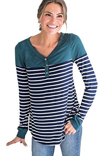 Nouveau Bloc de couleur bleu rayé Guêpière Chemisier de soirée pour femme Tenue décontractée d'été Taille UK 14EU 42