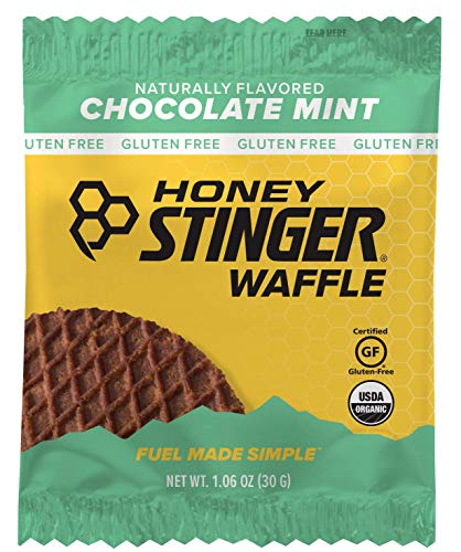 (Honey Stinger Organic Gluten Free Waffle, Chocolate Mint, Sports Nutrition, 1.06 Ounce (16 Count))