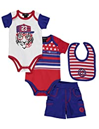 """Enyce Baby Boys' """"Chilled Tiger"""" 3-Piece Layette Set"""