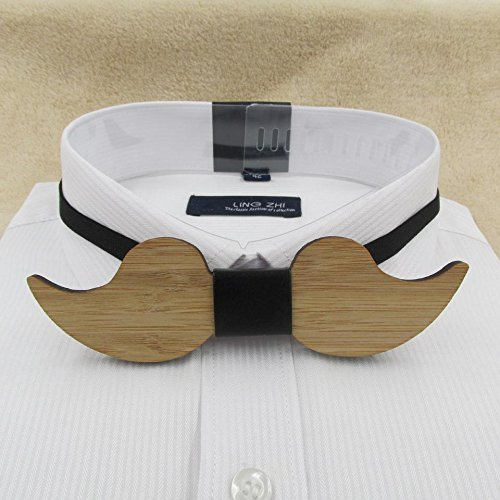 - New Fashion Geometric Mastache Wooden Bow Tie For Men Made Of Eco-Friend Bamboo Wood Mustache bow tie 01