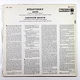 Stravinsky: Agon (A Ballet for Twelve Dancers) / Canticum Sacrum
