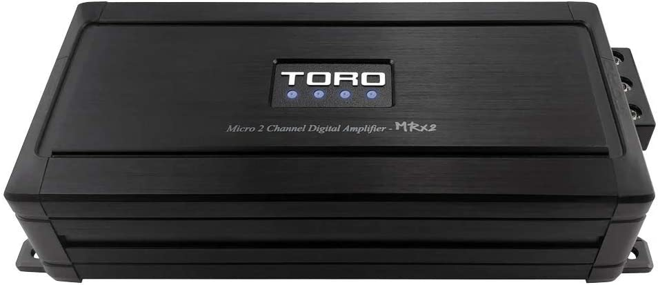 250w x 2 RMS @ 2 Ohm Micro Sized Multi Channel Car Amplifier 150w x 2 RMS @ 4 Ohm MRx2 Built-in Auto Sensing Turn-On Sound Quality Class D Design Full Range or Subwoofer Speaker TORO TECH
