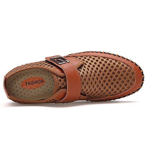 Chiaro Mocassini casual Marrone scarpe pelle di liscia Uomo loafers Gomnear CPxFwgqvzx