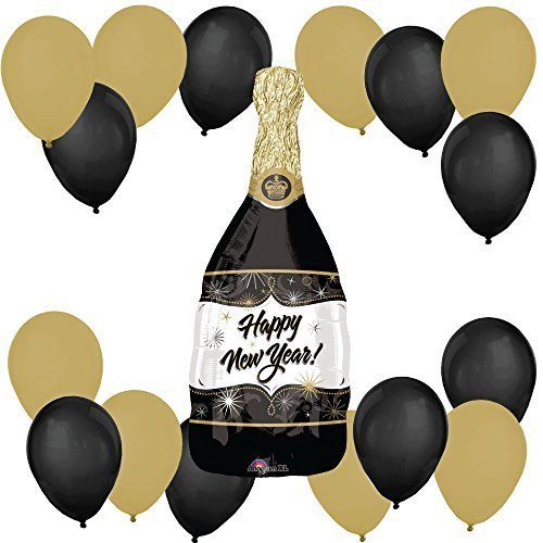 New Year's Eve Champagne Bottle - Party Balloon Kit