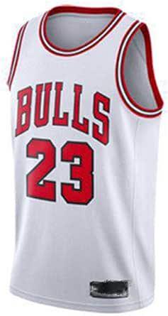 FDSEW Traje de Camiseta de Baloncesto para Hombre Michael 23 Bulls Chaleco Deportivo Retro Fitness, Sudadera al Aire Libre