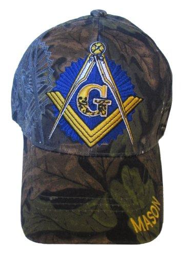 Freemason Embroidered Adjustable Hat Mason Masonic Lodge Baseball Cap  Camouflage