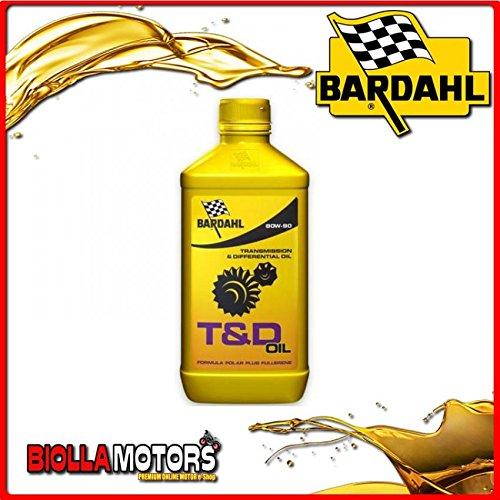 421140 OLIO BARDAHL T&D GEAR OIL 80W90 LUBRIFICANTE BARDAHL PER TRASMISSIONI 1LT