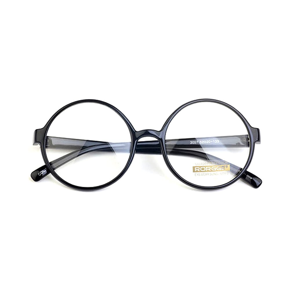 1920s Vintage Eyeglasses Frames Oliver Round Frames 8504 Black Unisex Eyewear Kpop Style