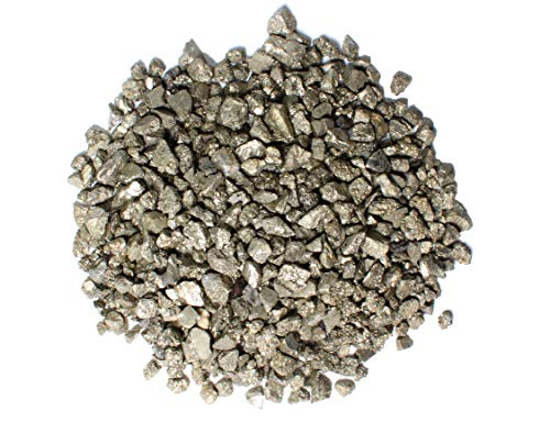 Dey Designs 1/2 Lb Pyrite Fools Gold Chips - Iron Pyrite Raw Crystal Stones - Healing Crystals - Raw Natural Rough Stones - Crystal Healing Stones