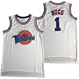 Supereasy Bugs #1 Space #23 Bunny Movie Tune Squad Basketball Jersey White (1 White, X-Large)