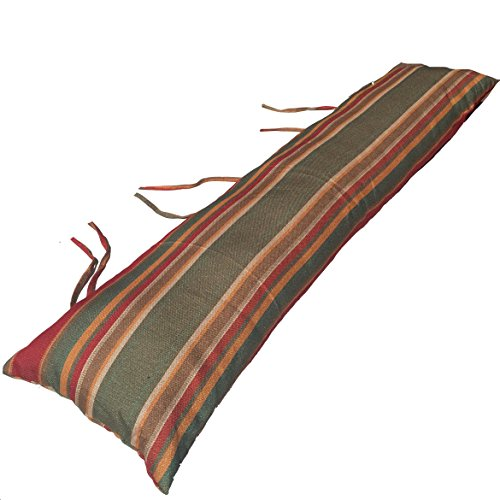 Green Polyester Hammock (Caribbean Hammocks Double Pillow, Weather Resistant Olefin Polyester, Green/Red)