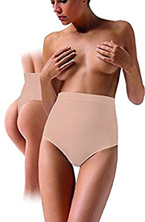 3d7027554e1a9 Ladies High Waist Nude Beige Skin Control Thong Hold In Shapewear Support  Underwear 8 10 12 14 16 18 20 Plus Size  Amazon.co.uk  Clothing