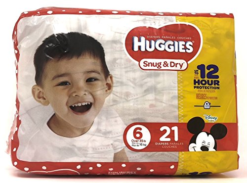 Diaper/Baby Wipe Travel Pack Bundle | Includes Huggies Snug & Dry Size 6 Disposable Diapers (21 Count) and Simply Clean Baby Wipes Resealable Container (32 Count) by Snug & Dry (Image #1)