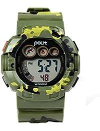 Kids Water Resistant Camo Electronic Wrist Watch Digital...