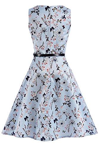 Floral Retro Swing YMING Cocktail Dress Tea Dress Prom Flower Vintage 6 Women's Garden FTxWWnqRw