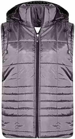 Kids Boys Contrast Panel Gilets Black Sleeveless Hooded Bodywarmer Jackets 5-13Y