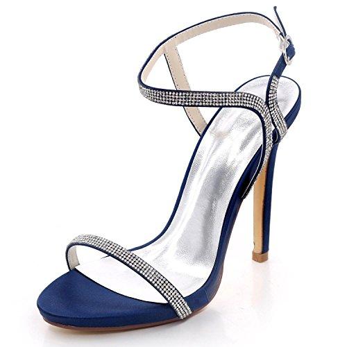 Blue Mariage Chaussures 09 Talons Summer Femmes À Bridal Prom De L Strass D7216 Toe Party Open yc Hauts x1wBPPCTq