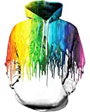 sankill Unisex 3D Digital Pullover Sweatshirt Printed Hoodies Funny Hooded Sweatshirt Pockets