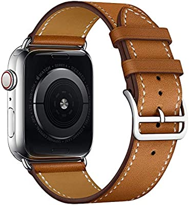 Amazon.com: Apple Watch correa de piel, ibazal [Vintage ...