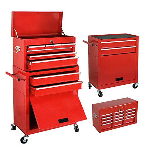 Smartxchoices 24 Inch Solid Steel Portable Removable Mobile Toolbox With  Chests And Roller Cabinets 4 Wheels Garage Toolbox Tool Cabinets Tool  Storage Box ...