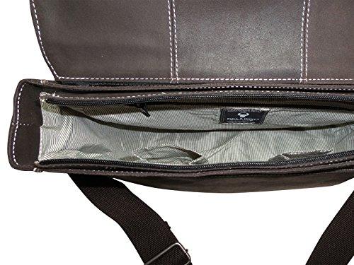 Handtasche Leder Twenty Five-Salina-braun mit Wendefunktion der Überschlaglasche Mittelgroß
