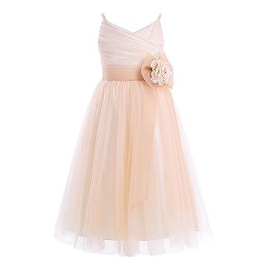 b524a60ee7482 Fille Robe De Cérémonie Soirée Mariage Enfant Fille Fleur Robe Demoiselle  d Honneur Taille Haute