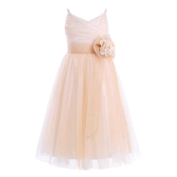 iiniim Girls Junior Tulle Mesh Flower Girl Dress Princess Pageant Wedding  Bridesmaid Birthday Party Dress  Amazon.co.uk  Clothing 980e8bd643c0